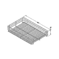 Hafele Internal Pull-out Basket Steel Chrome Finished