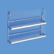 Hafele Spice rack 2 shelf steel chrome