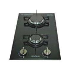 Hafele Tempered Glass Hob with 2 Gas Burner