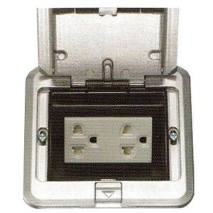 Panasonic  Floor Outlet Duplex Universal Outlet w Shutter
