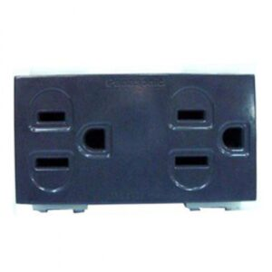 Panasonic Receptacle Duplex Ground Grey