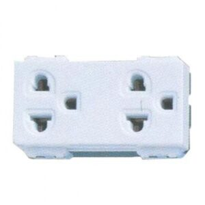 Panasonic Receptacle Universal Grounding Duplex White