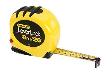Stanley LeverLock® Tape Rule 8m 26'