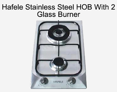 Hafele Stainless Steel HOB With 2 Glass Burner