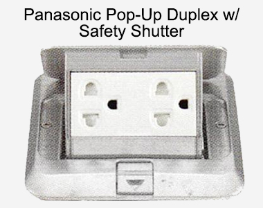 Panasonic Pop-Up Duplex with Safety Shutter