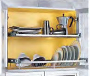 Hafele Plate Rack for top cabinet